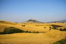 Wheat and hay fields nearly Cairano, Avellino, Italy